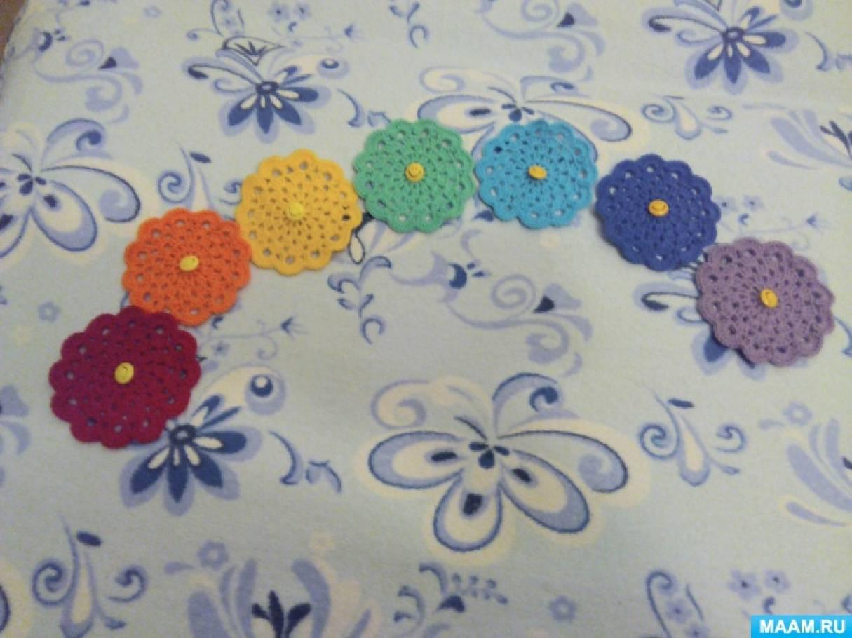 Дидактическая игра «Разноцветные полянки»