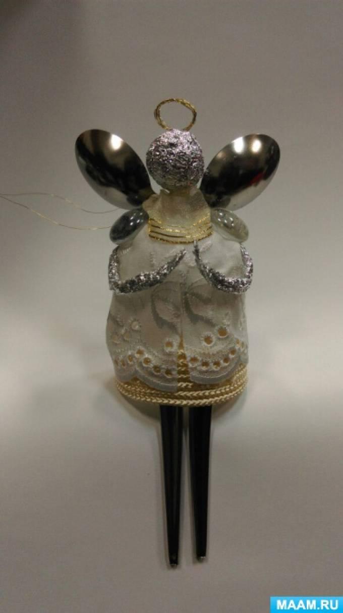 Мастер-класс «Рождественский ангел из бросового материала»