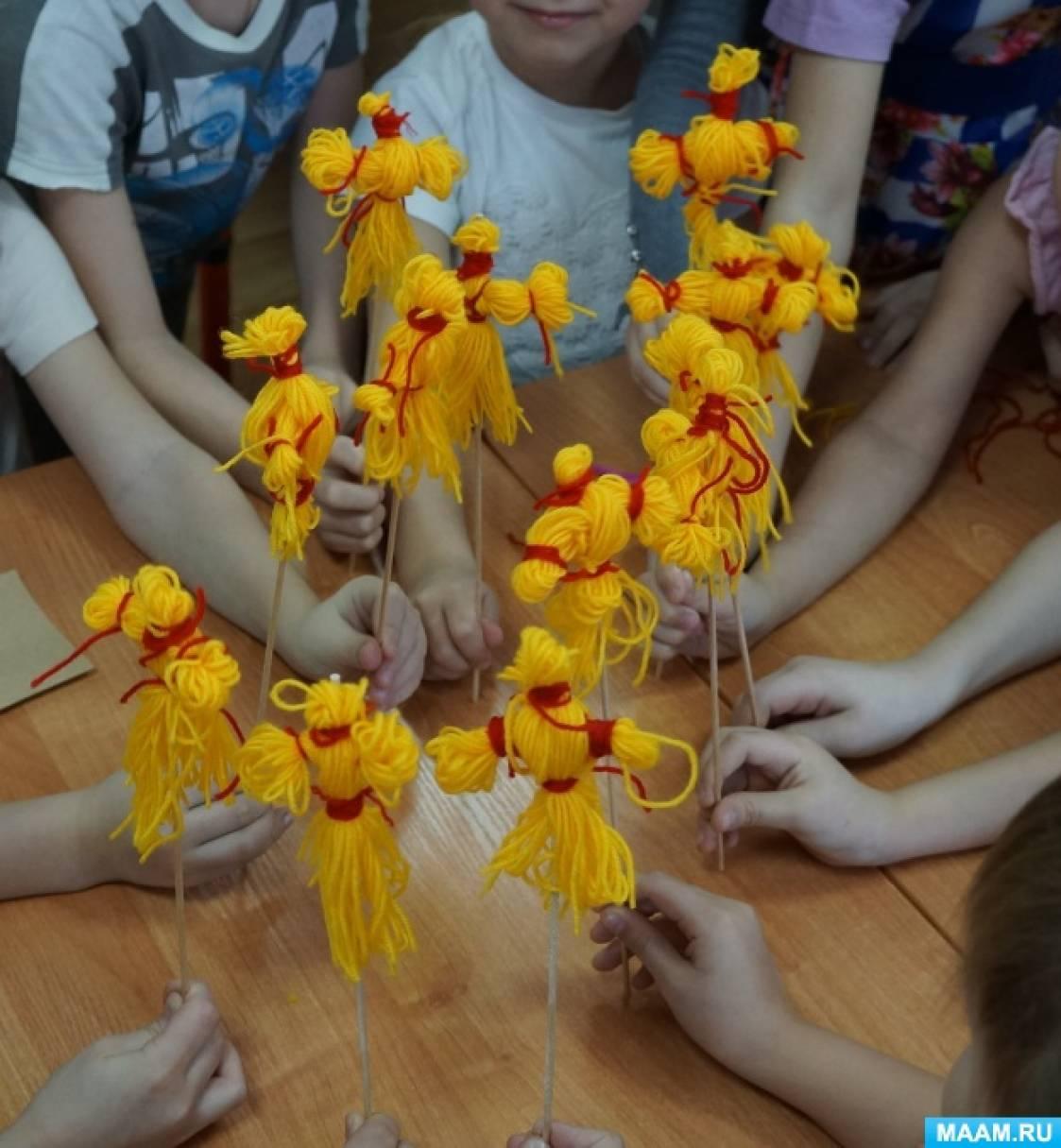 Мастер-класс по изготовлению куклы из ниток «Масленица»