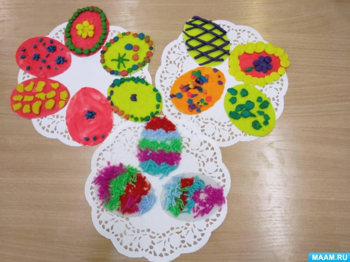 Фотоотчет о художественном творчестве детей средней группы «Пасхальное яйцо»