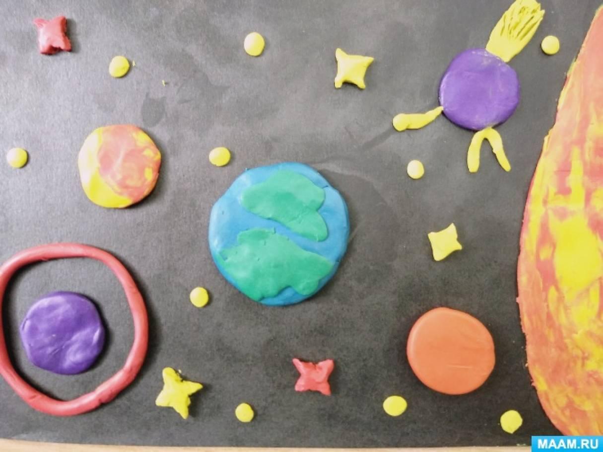 Фотоотчет о художественном творчестве детей средней группы «За звездами в космос»