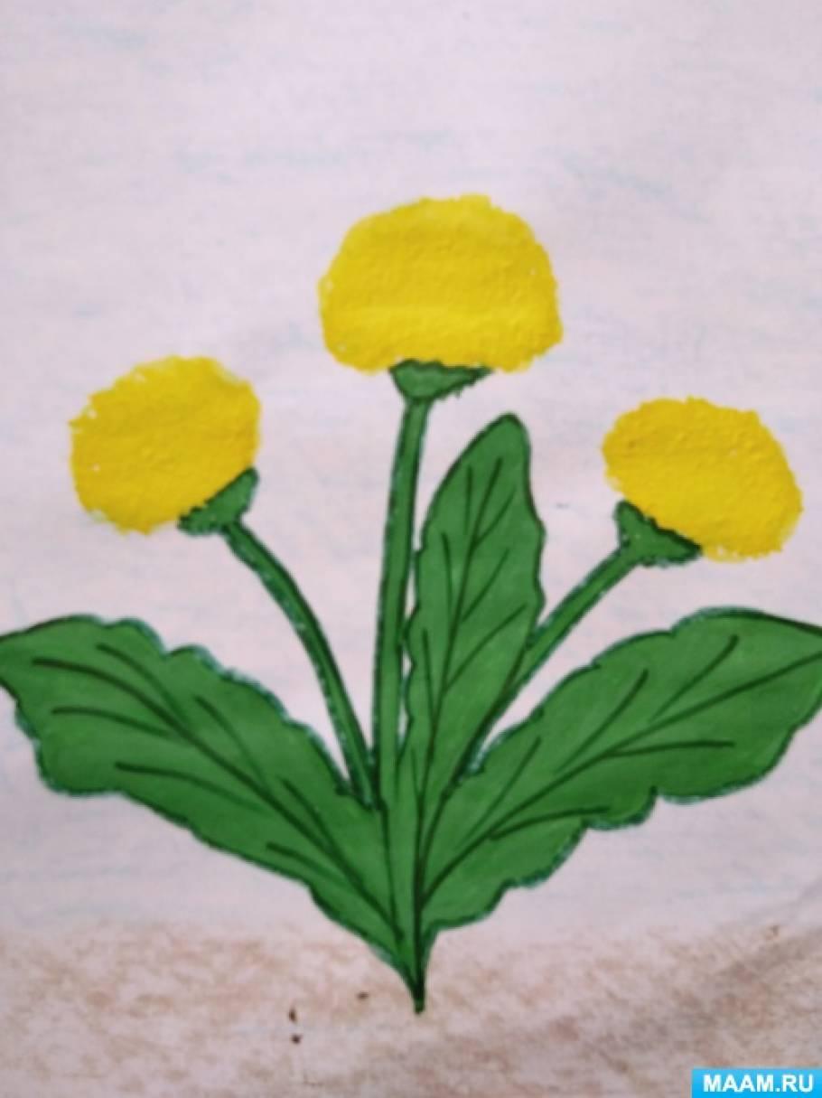 Фотоотчёт о художественном творчестве детей средней группы «Расцвели одуванчики»