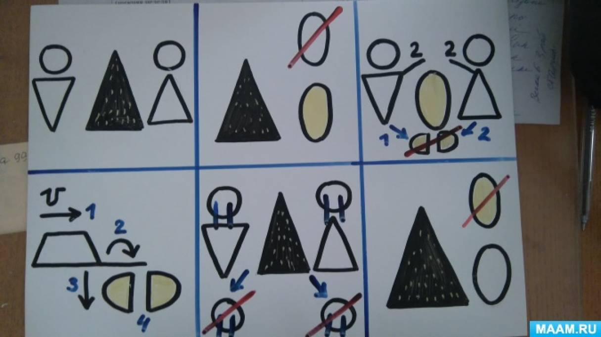 Мнемосхемы для средней группы детского сада к сказкам «Курочка Ряба» и «Колобок»