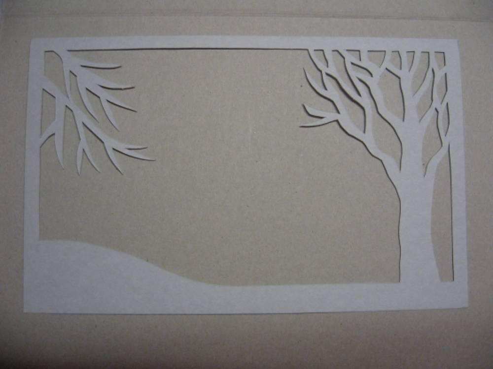 Многослойные открытки зима 30