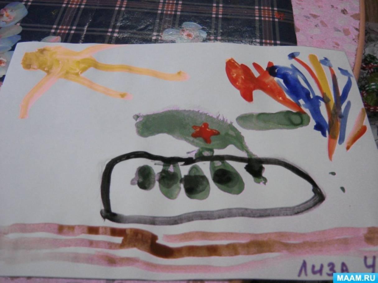 Мастер-класс по нетрадиционному рисованию во второй младшей группе «Танк»