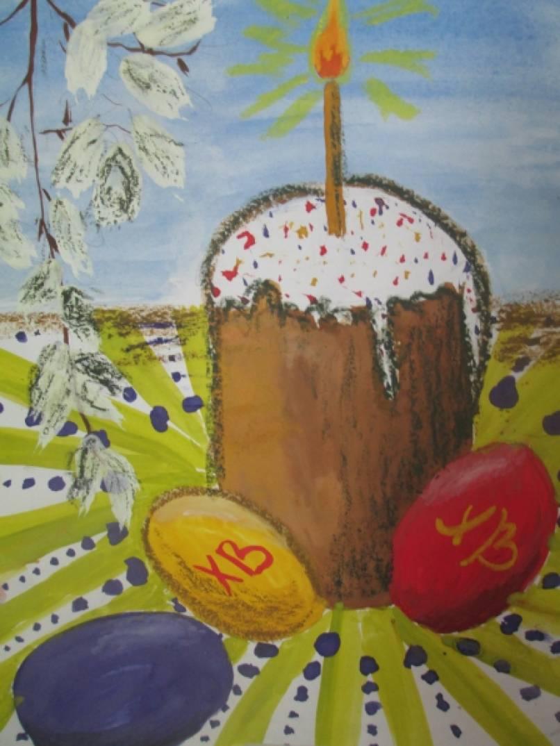 Рисунок к пасхе в школу 1 класс, коллектива открытки