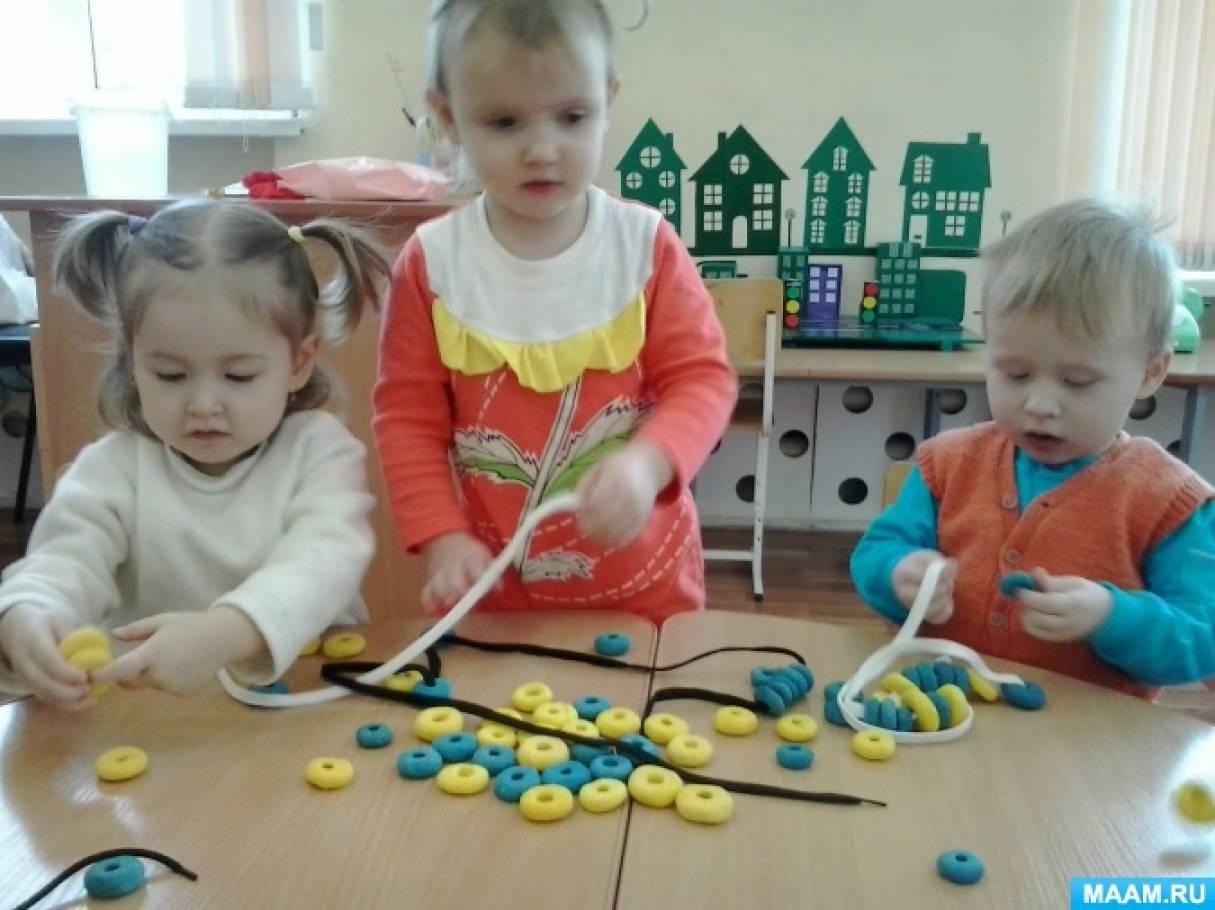 Занятие по сенсорному воспитанию с использованием прищепок