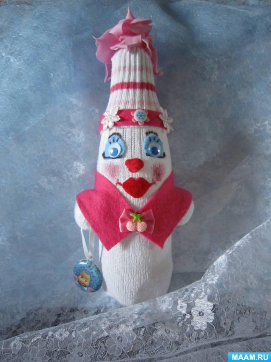 Мастер-класс «Изготовление снежной бабы из носка «Гламурная штучка»