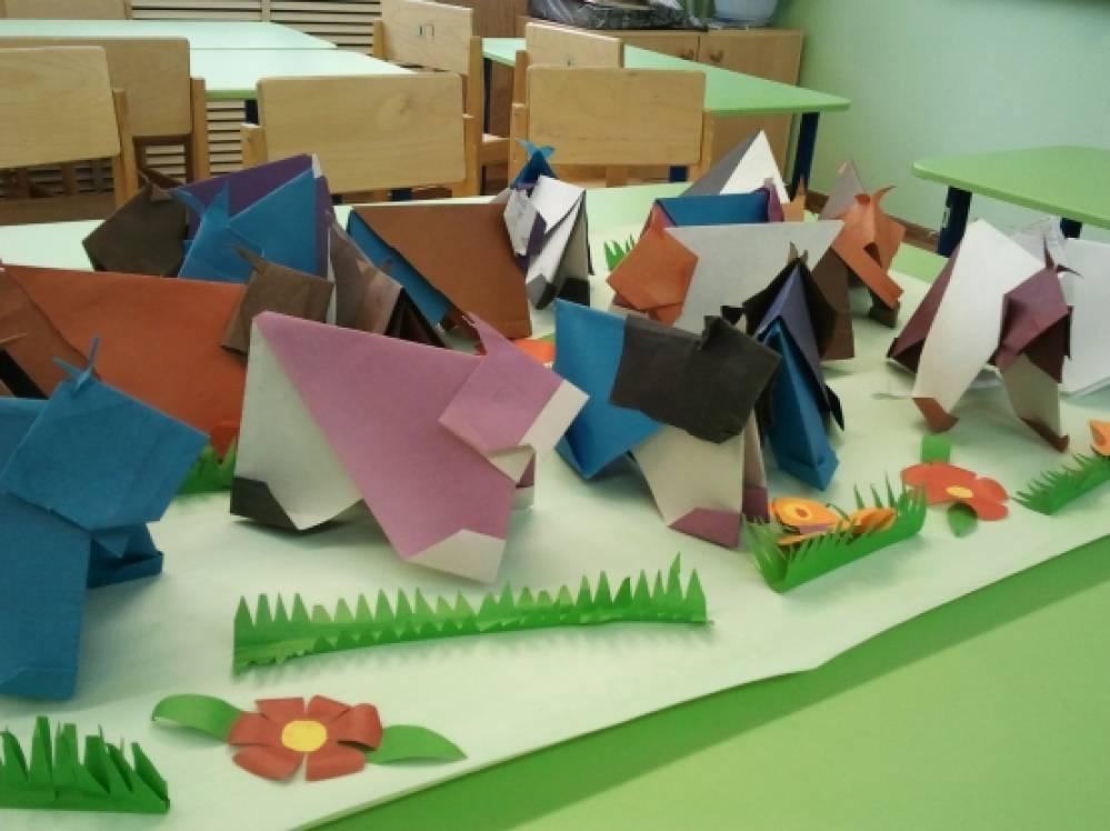 оригами в подготовительной группе занятие юла достаточно