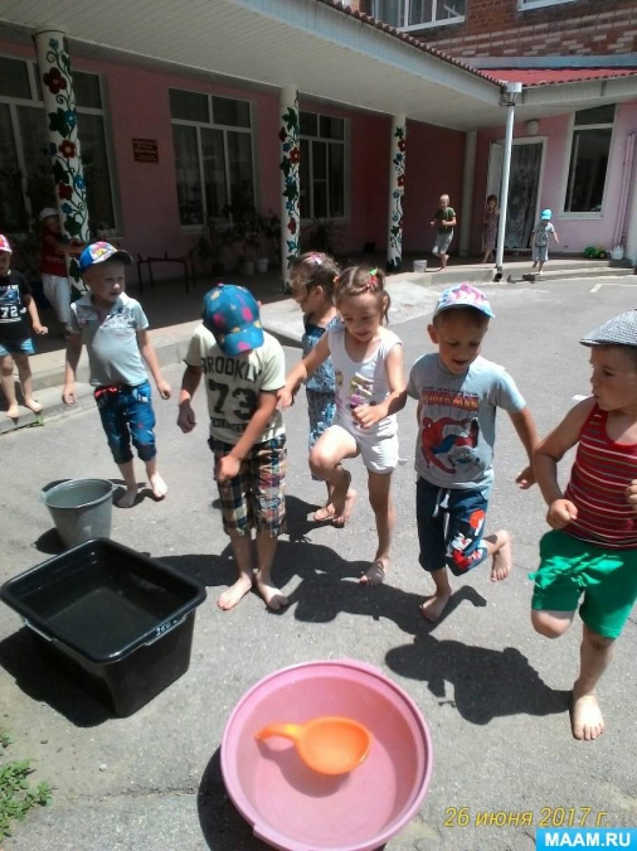 Фотоотчет «Лето пробежало быстро. Совместная работа с детьми, родителями, отпуск, ремонт в детском саду»