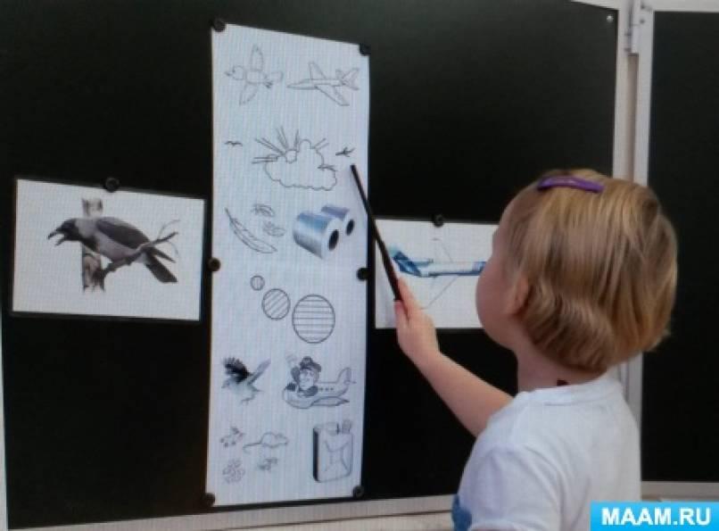 Конспект занятия по развитию связной речи у детей 4–5 лет Составление рассказа-сравнения «Птица и самолёт»