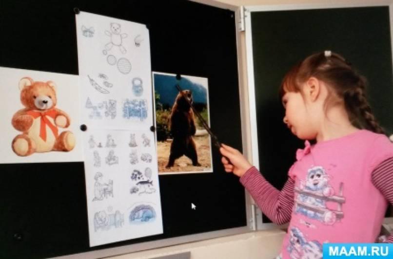 Конспект НОД по развитию связной речи у детей 4–5 лет. Рассказ-сравнение «Медведи: игрушечный и настоящий»