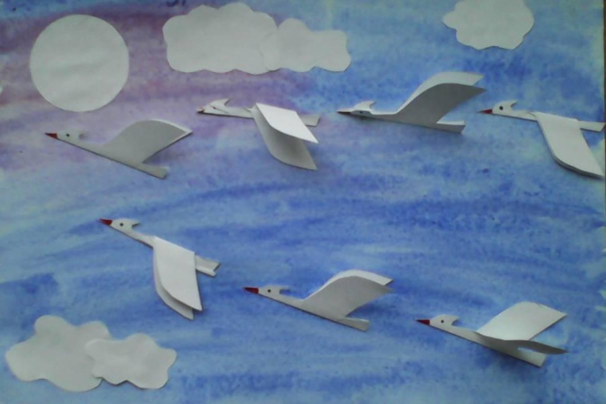 Перелетные птицы картинки для аппликации создании петрограде