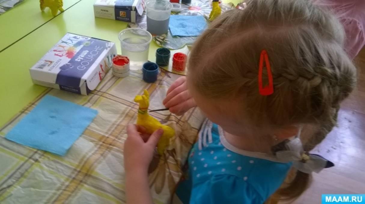 Конспект непрерывной образовательной деятельности по декоративному рисованию «Филимоновский жираф»