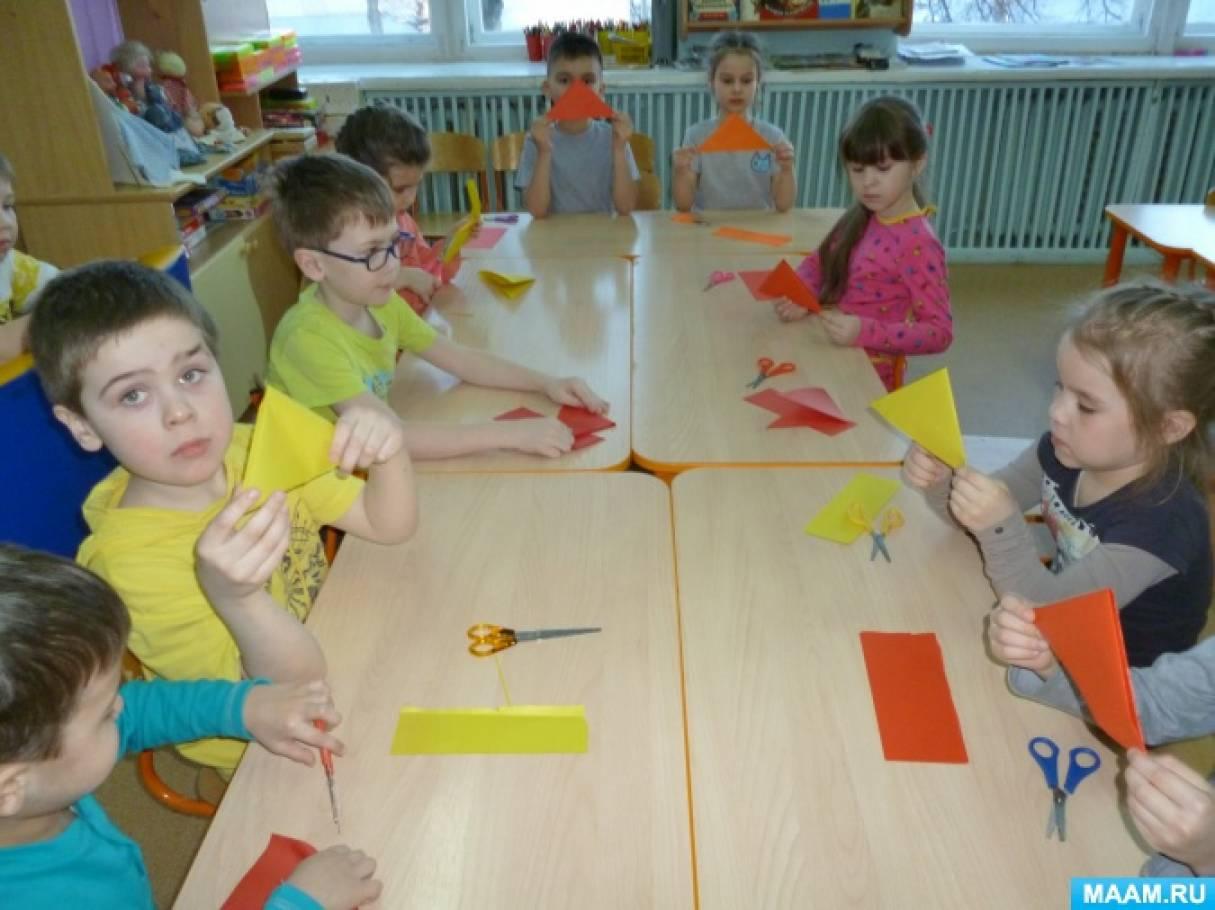 Оригами и киригами— любимые занятия дошкольников.