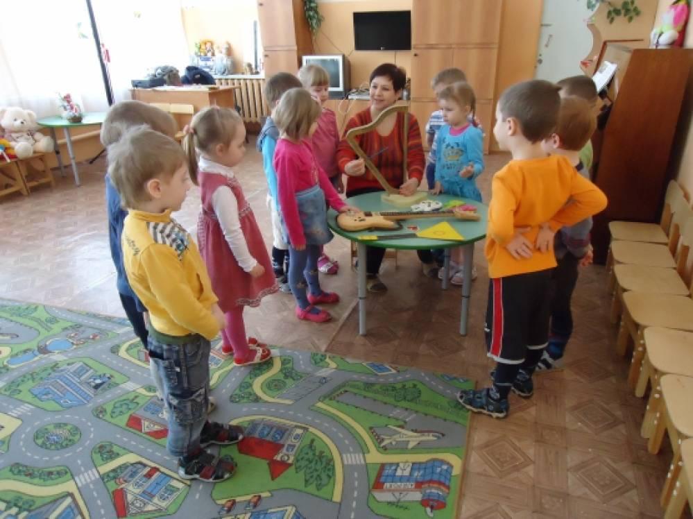 знакомство детей с музыкальными инструментами в группе
