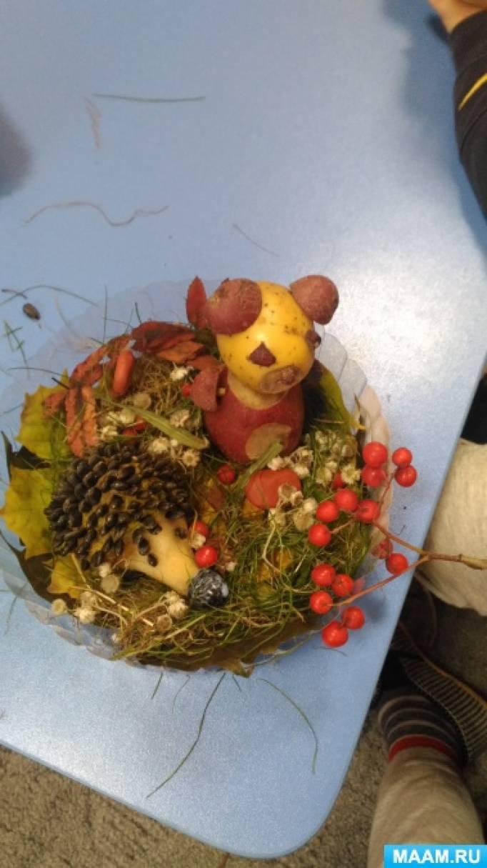 Коллективная работа детей группы «Сложный дефект» «Встреча лесных друзей на осенней полянке»