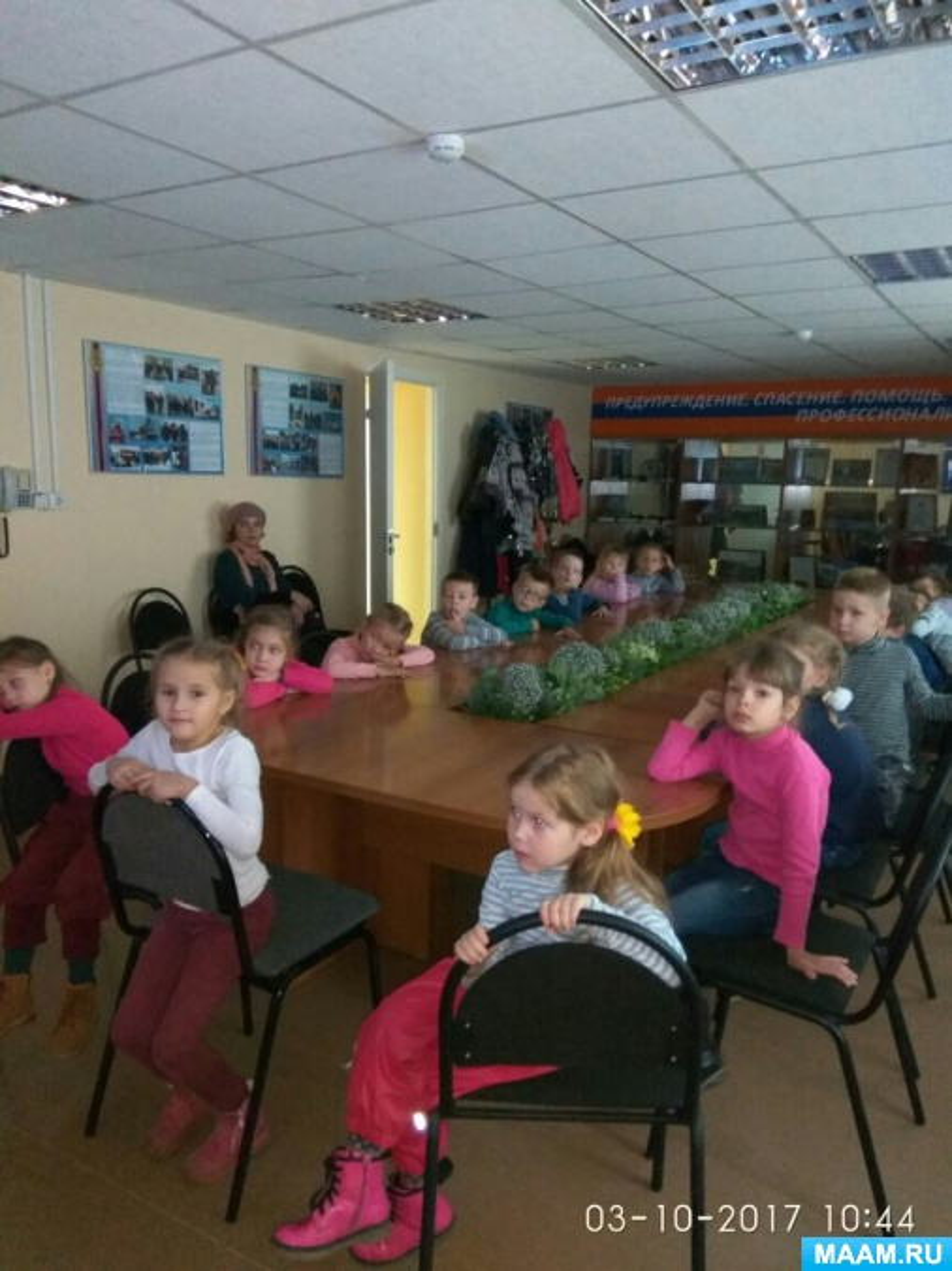 Фотоотчет экскурсии детей на Пожарно-техническую выставку при Главном управлении МЧС России по Республике Карелии