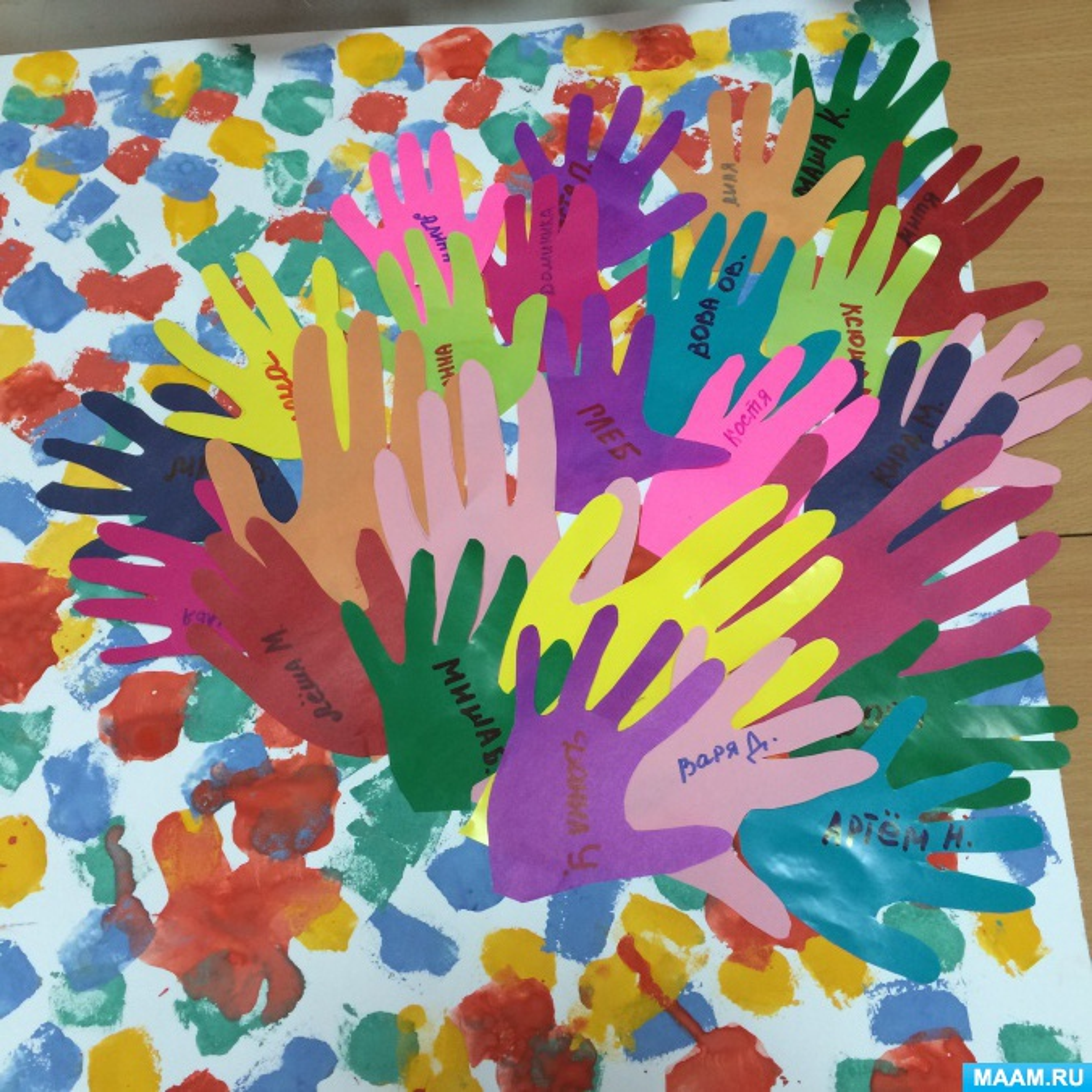 Открытка из ладошек своими руками для детей, открытки