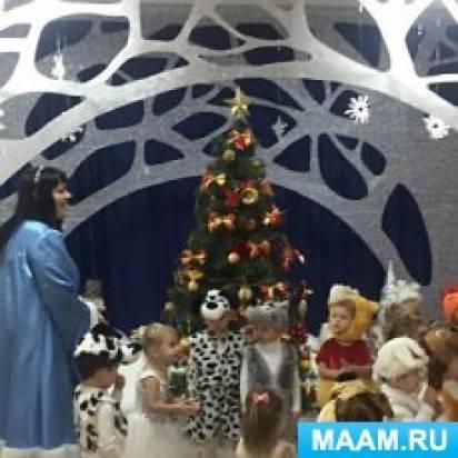 Сценарий новогоднего развлечения по мотивам сказки «Заюшкина избушка» в первой младшей группе