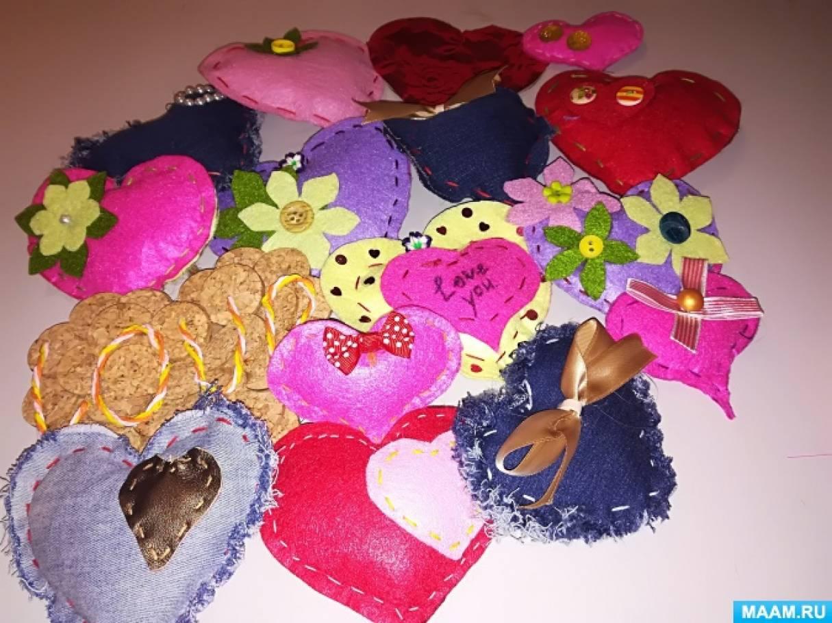 Мягкие сердечки своими руками фото 587
