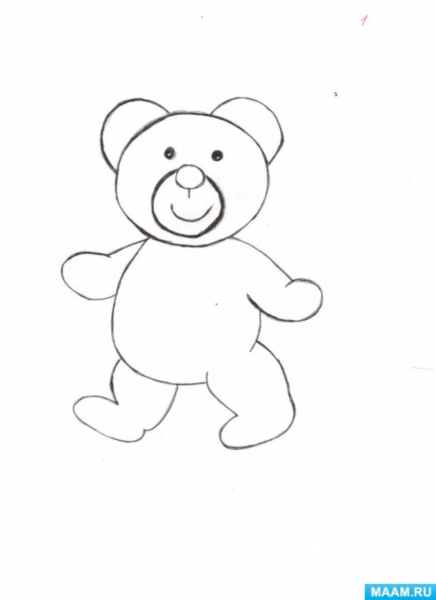 Конспект НОД по рисованию в нетрадиционной технике «Проснулись медвежата»