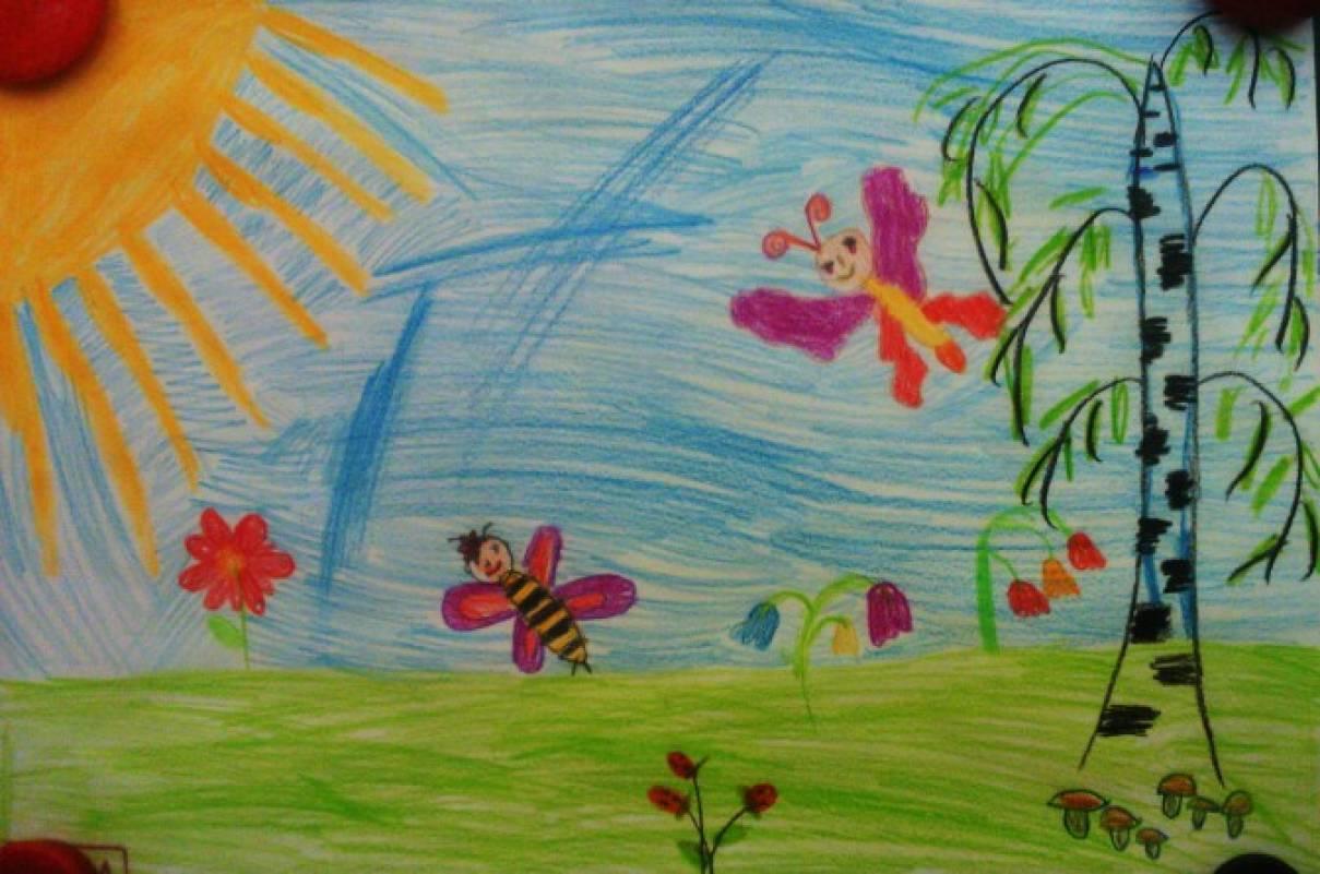 Рисунок на тему здравствуй лето фото