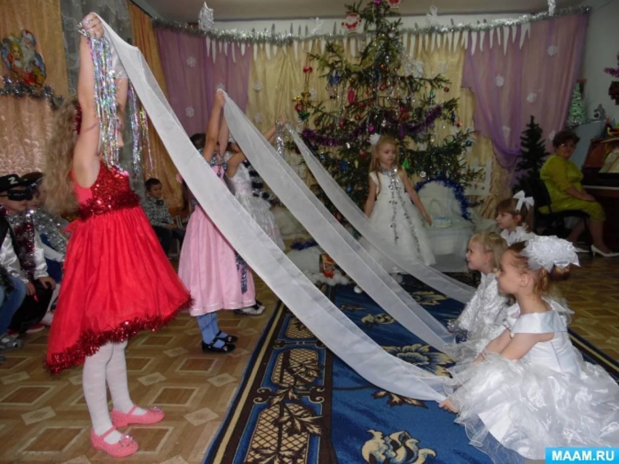 Фотоотчёт утренника в подготовительной группе «Лесная сказка возле новогодней ёлки»