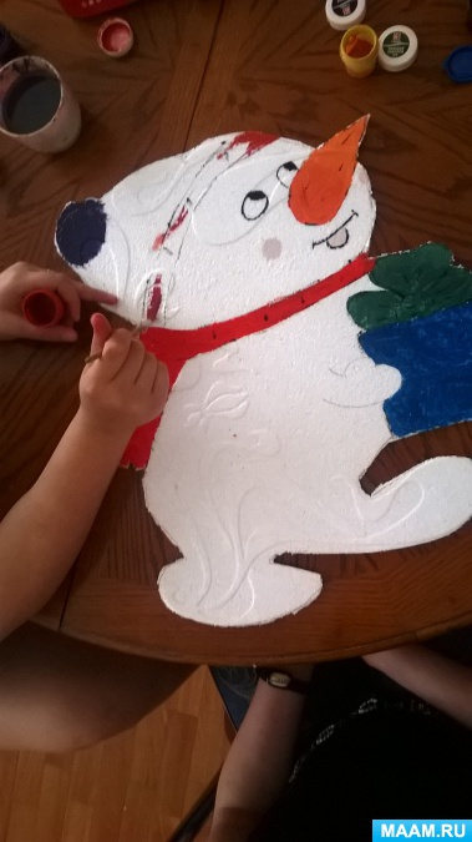 Мастер-класс «Снеговик из пенопласта»