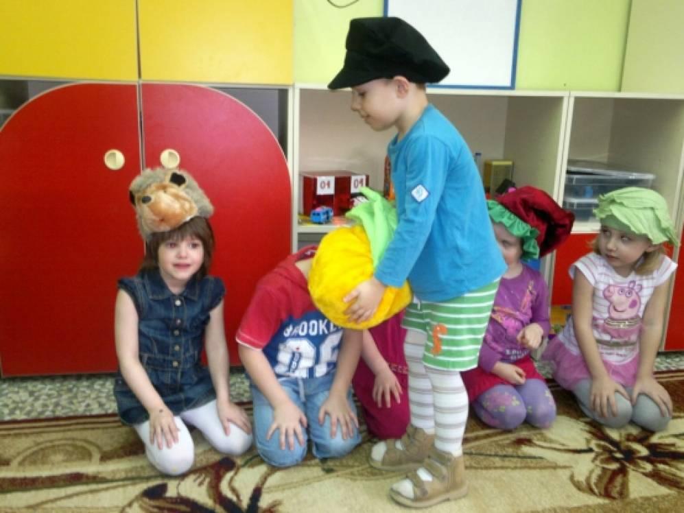 знакомство с кукольным театром в старшей группе