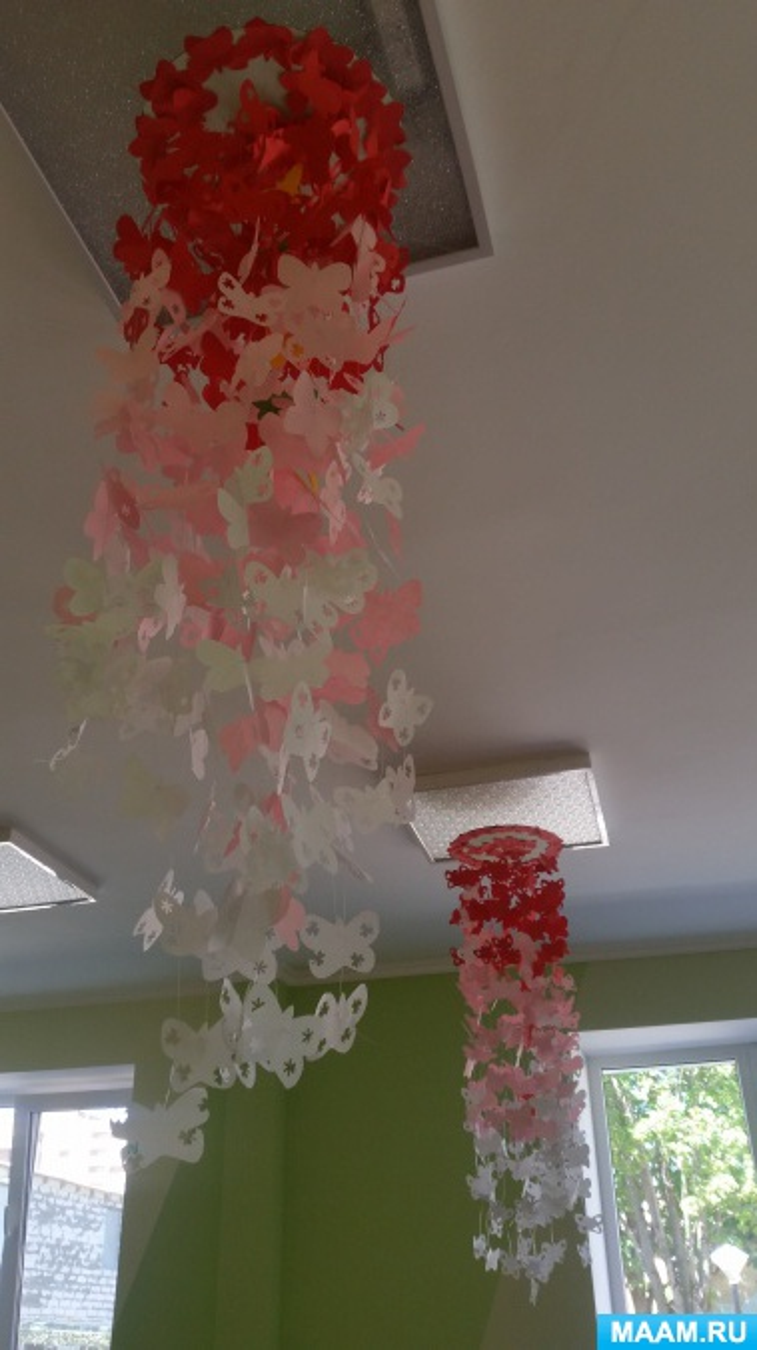 Подвесной модуль «бабочки-красавицы» для украшения группы