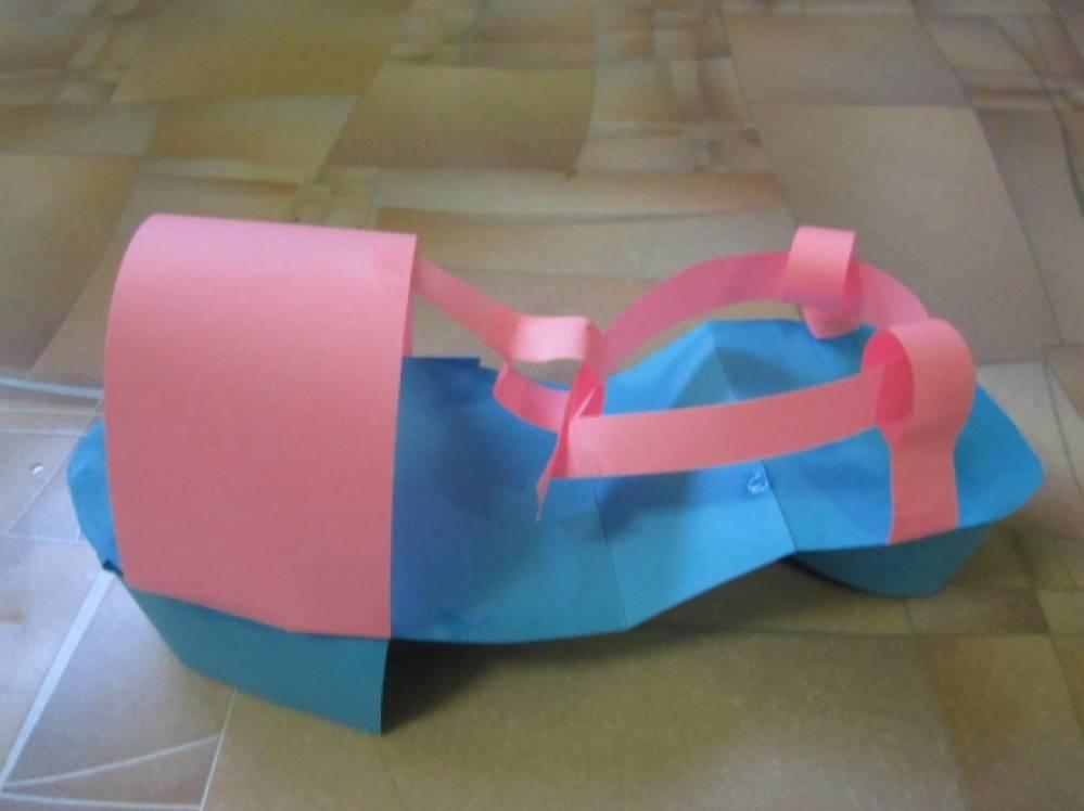 Как сделать обувь из бумаг