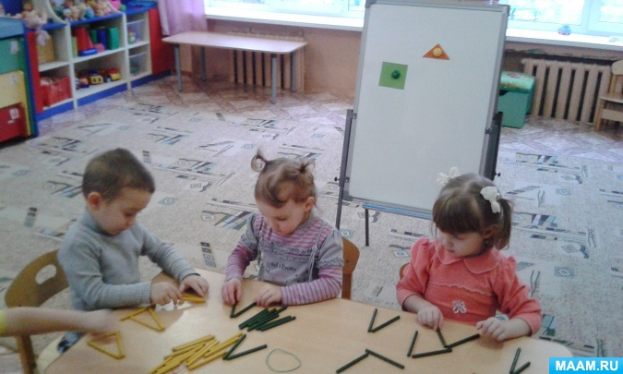 Фотоотчёт о занятии по конструированию из счётных палочек «Волшебные палочки»