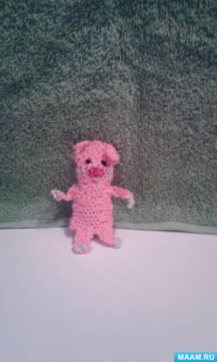 мастер класс вязаной пальчиковой игрушки из шерстяных ниток