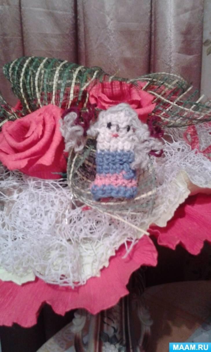 Мастер-класс вязаной пальчиковой игрушки из шерстяных ниток «Машенька»