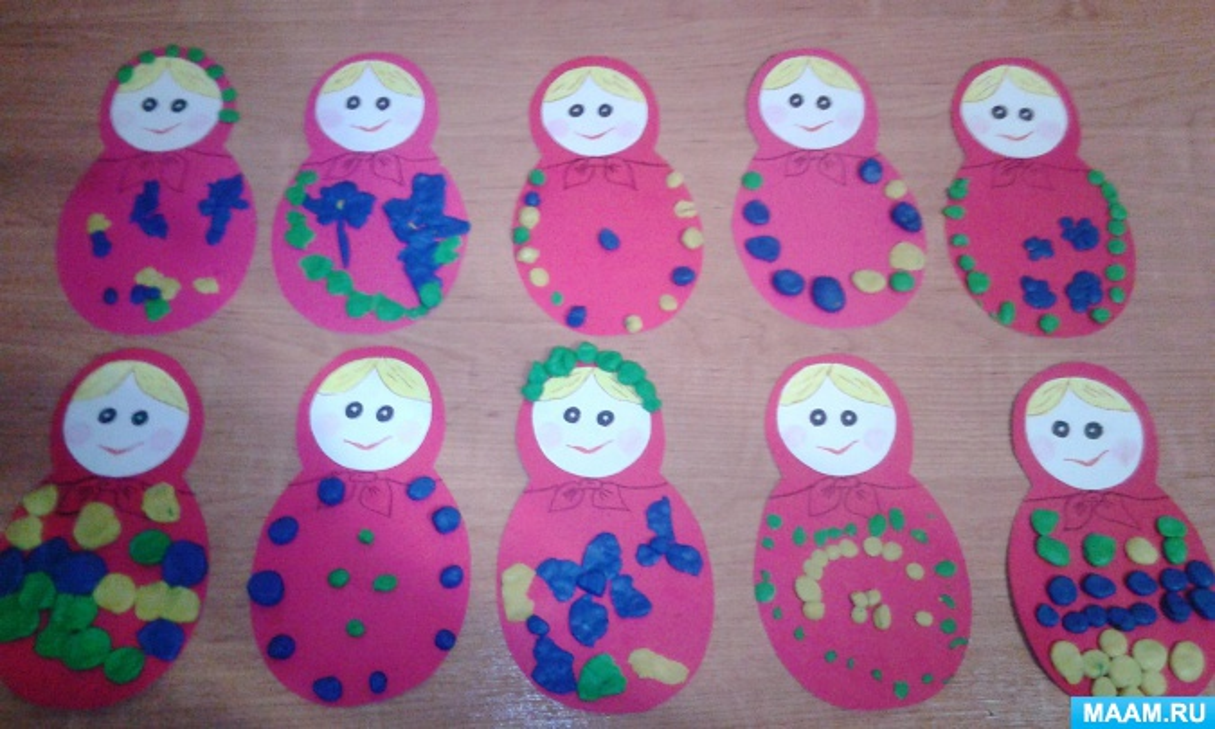 Конспект интегративного занятия «Сарафан для матрёшки» с детьми второй младшей группы