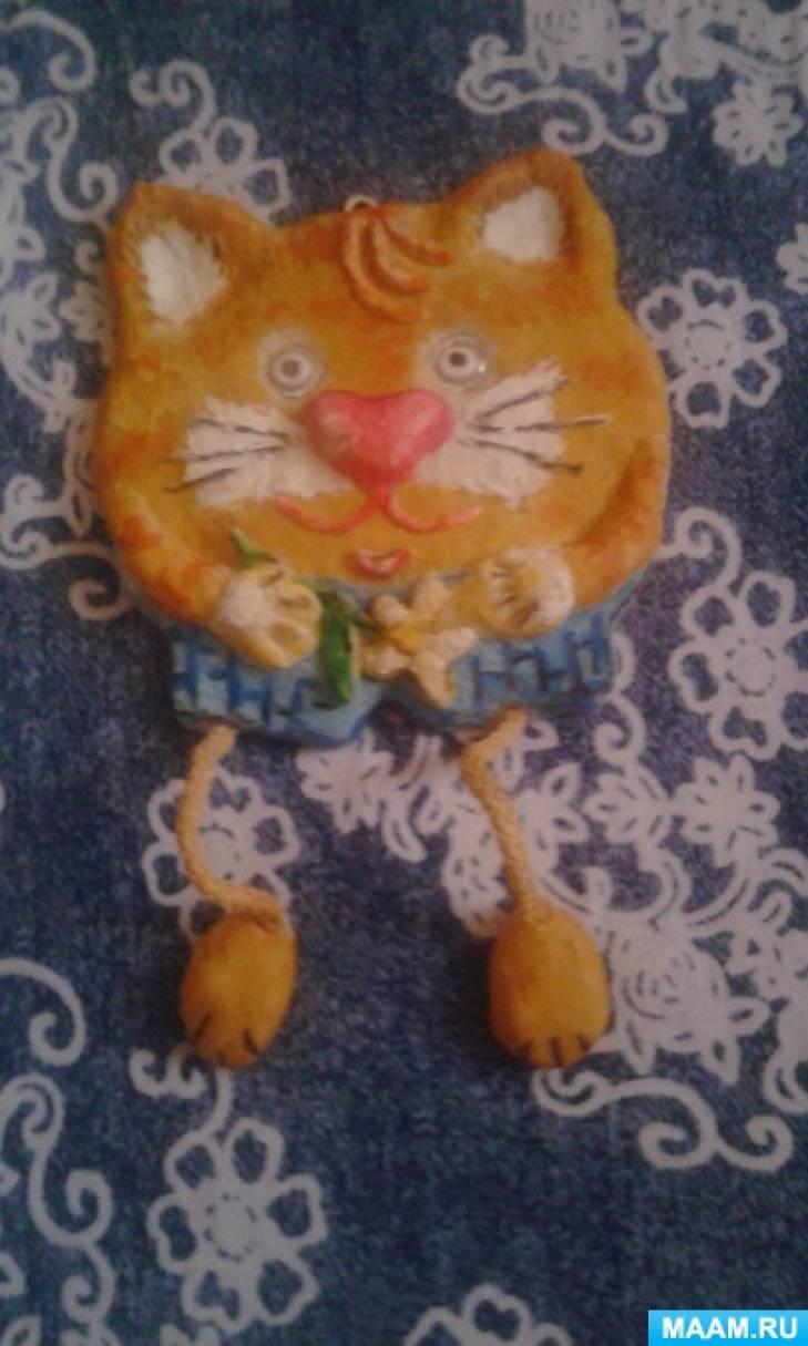 Мастер-класс по изготовлению поделки из солёного теста «Котик»