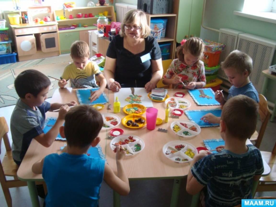 Конспект НОД по художественно-эстетическому развитию в подготовительной группе для детей с ЗПР «Осень в России»