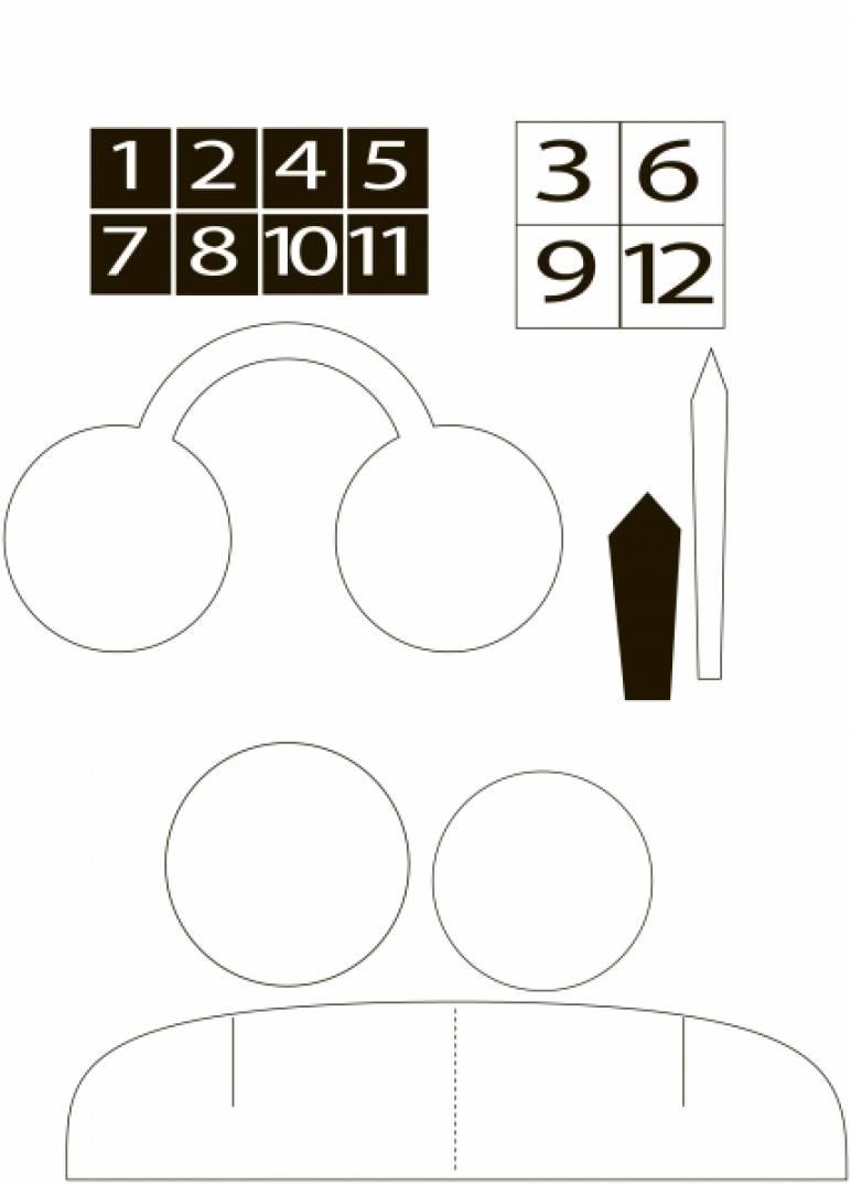 Часы своими руками шаблоны 974