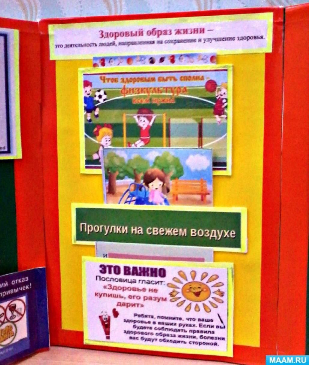 Лэпбук Здоровый образ жизни Воспитателям детских садов  Лэпбук Здоровый образ жизни