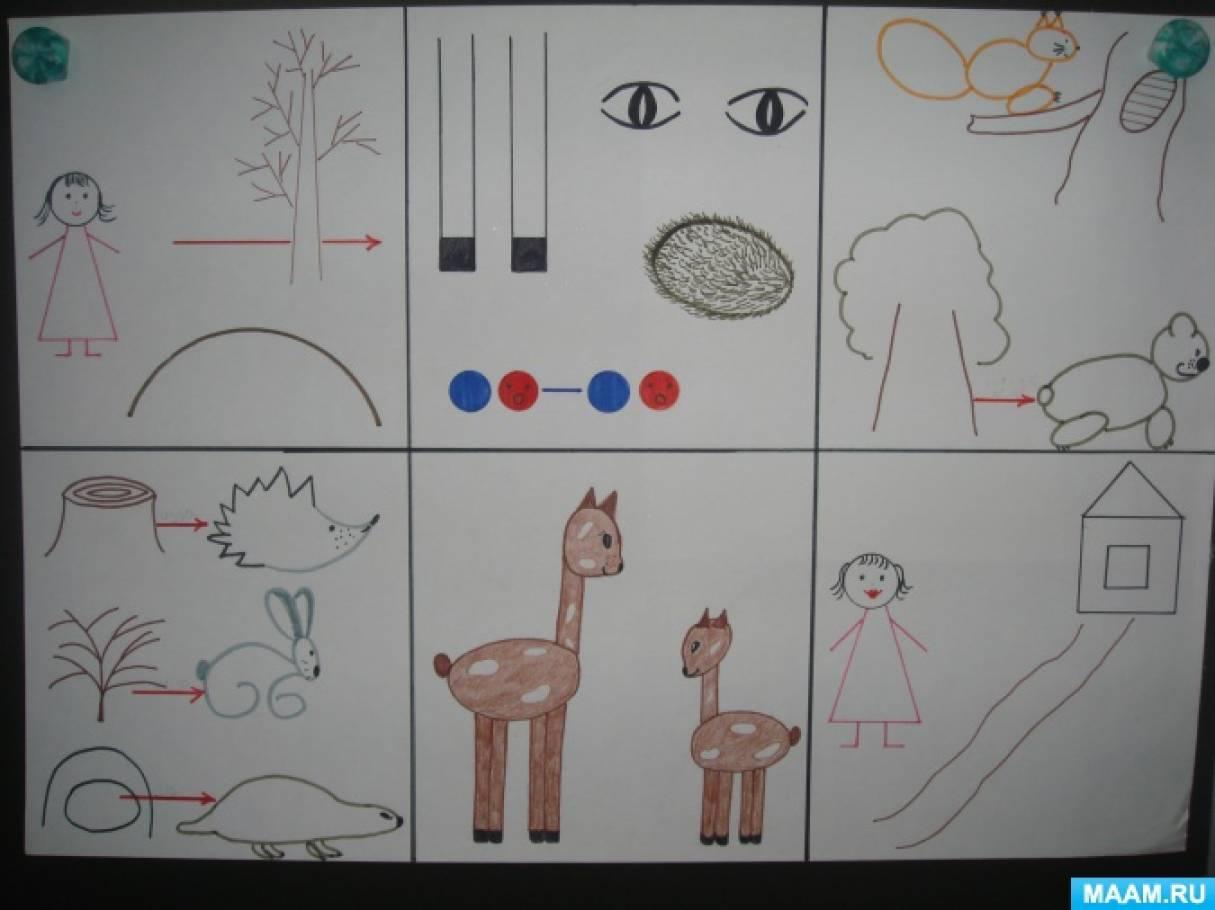 Рассказывание сказки «Как оленёнку маму искали» с использованием мнемотаблицы. Старшая группа