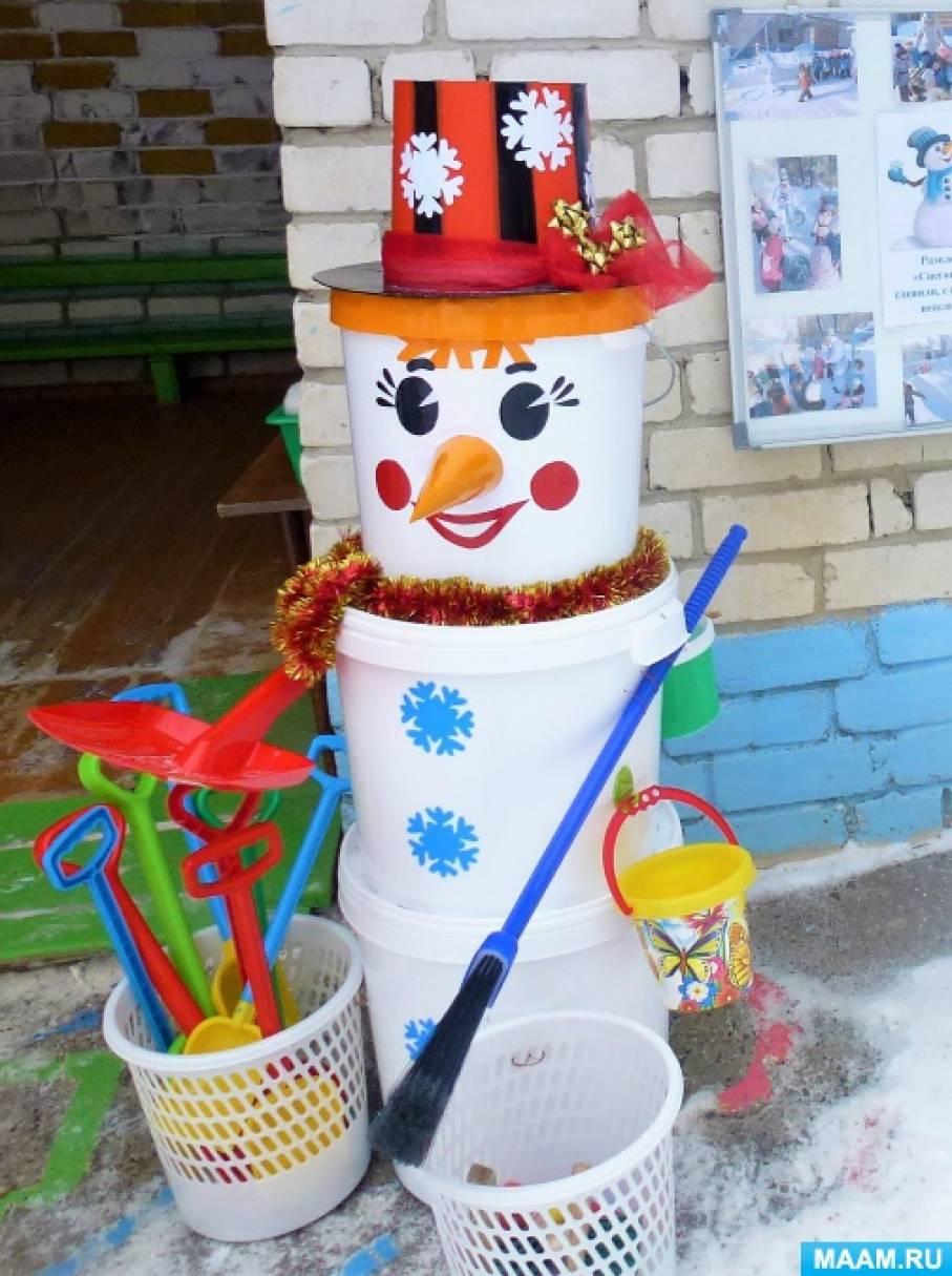 Мастер-класс «Снеговик-трудовик»