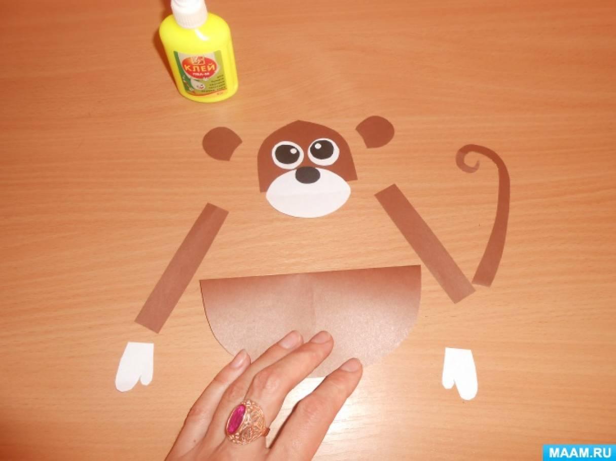 Поделка обезьянка  в детский сад64