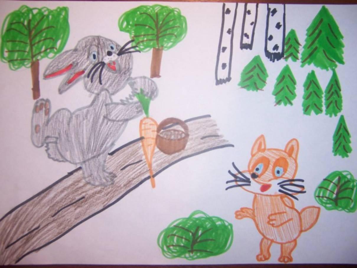 «Литературный калейдоскоп» Сказка для детей дошкольного возраста о честности. Зайчонок «Белое Пятнышко»