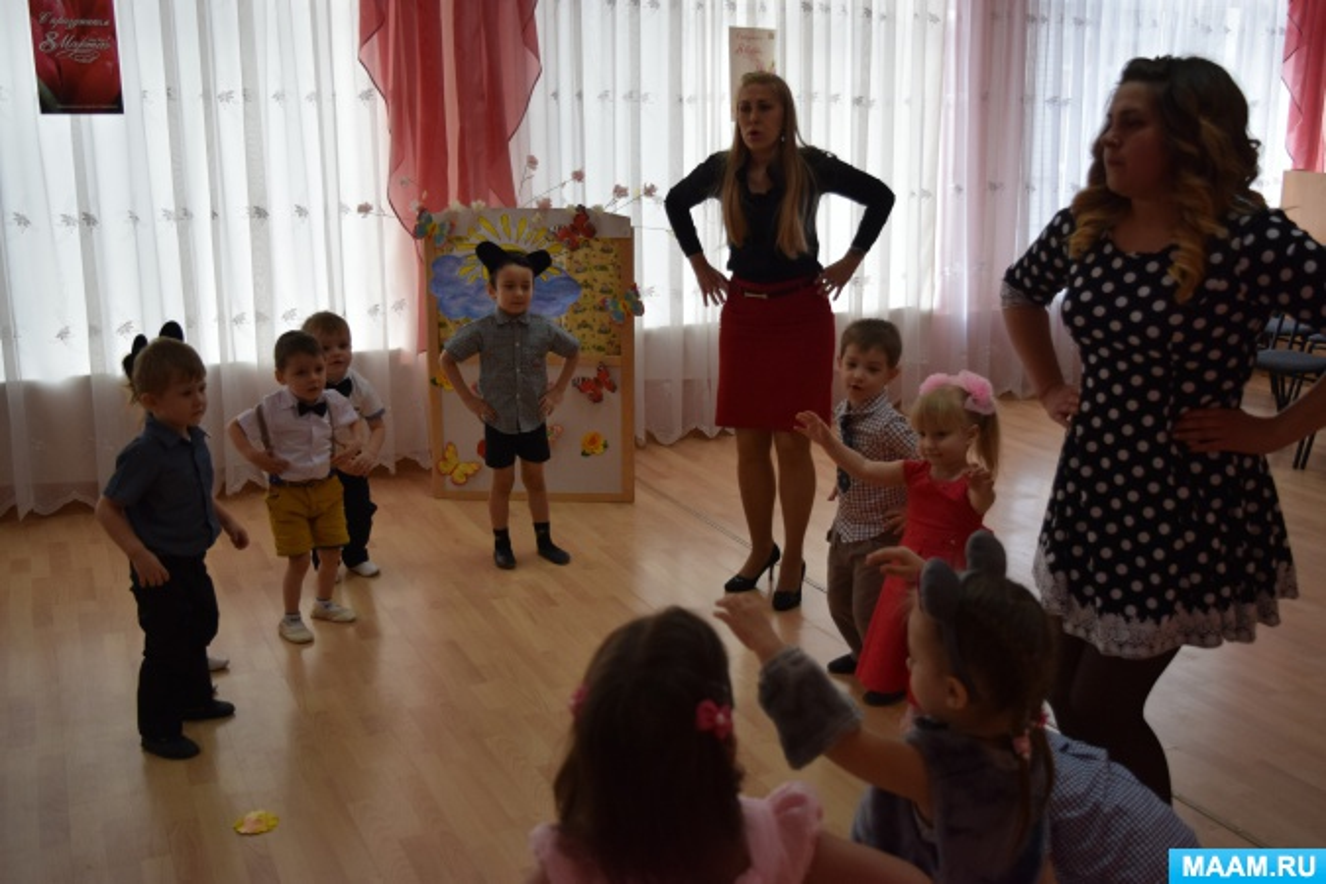 Конспект занятия к 8 марта «Детям о празднике»