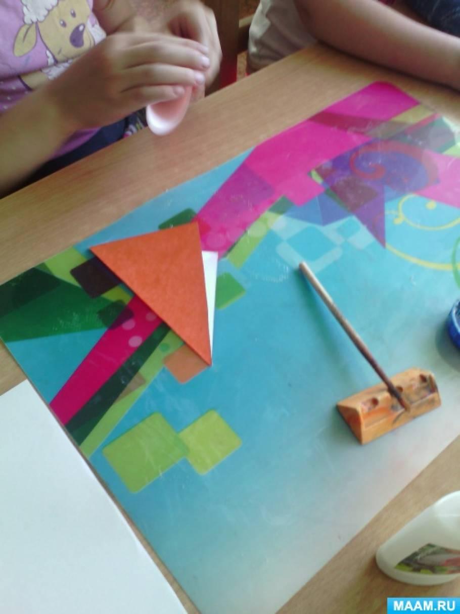 Кружок «Оригами» в старшей группе. Конспект занятия, тема: «Бабочка-красавица».
