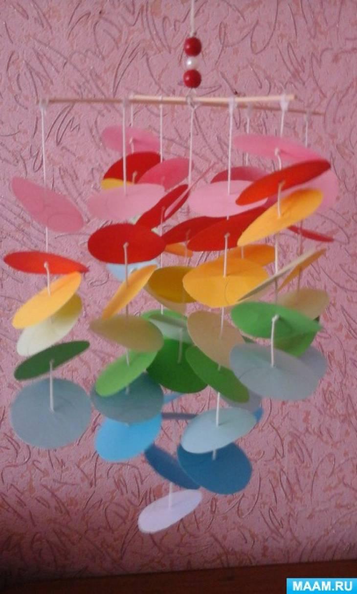 Подвесной модуль «Дуновение» для украшения группы детского сада, кабинета или дома