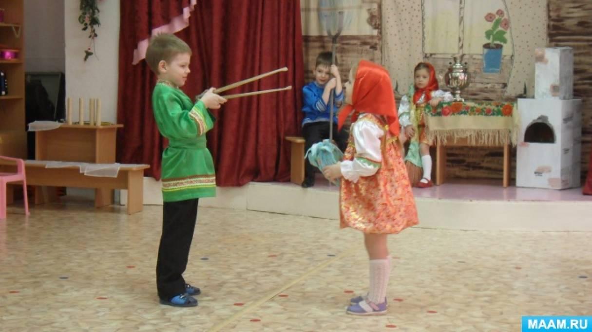 Фотоотчет «Сказка «Колобок на новый лад» в исполнении детей средней группы»