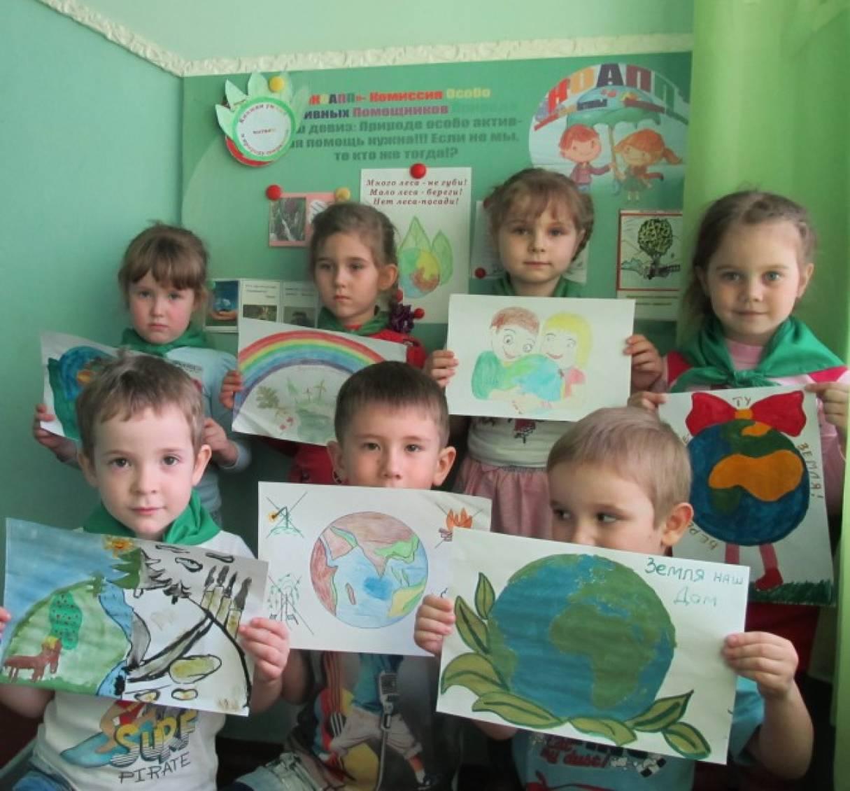 «Коапп за чистоту и порядок на планете Земля» (совместное творчество родителей и детей). Фотоотчет
