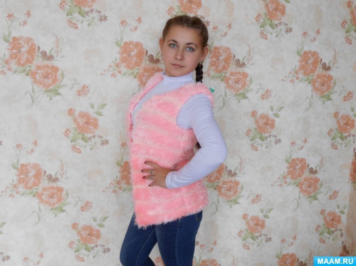 Мастер-класс «Розовый жилет»